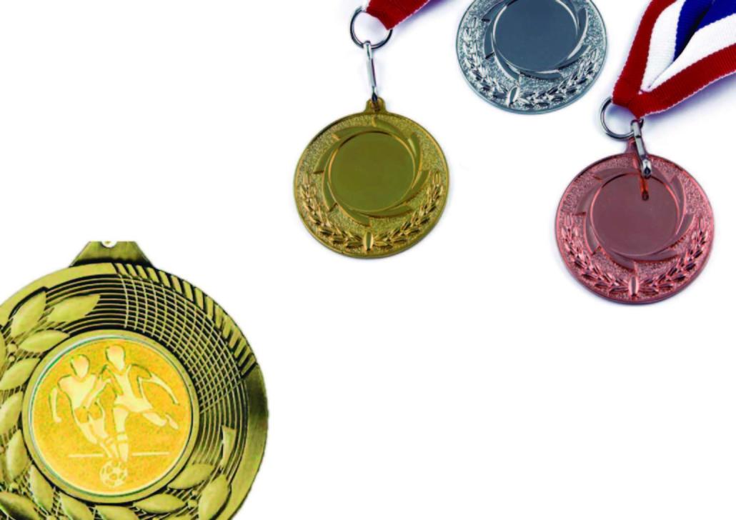 medallas, trofeos y dedales